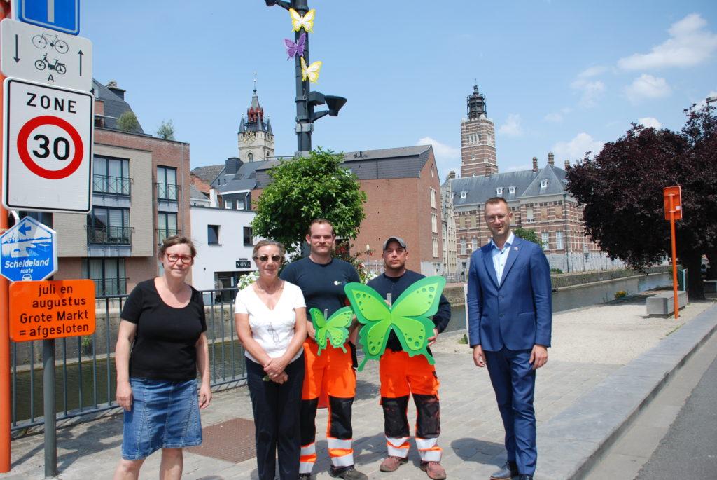 Creatieve stadsdiensten bieden Fietsvlinderroute aan.